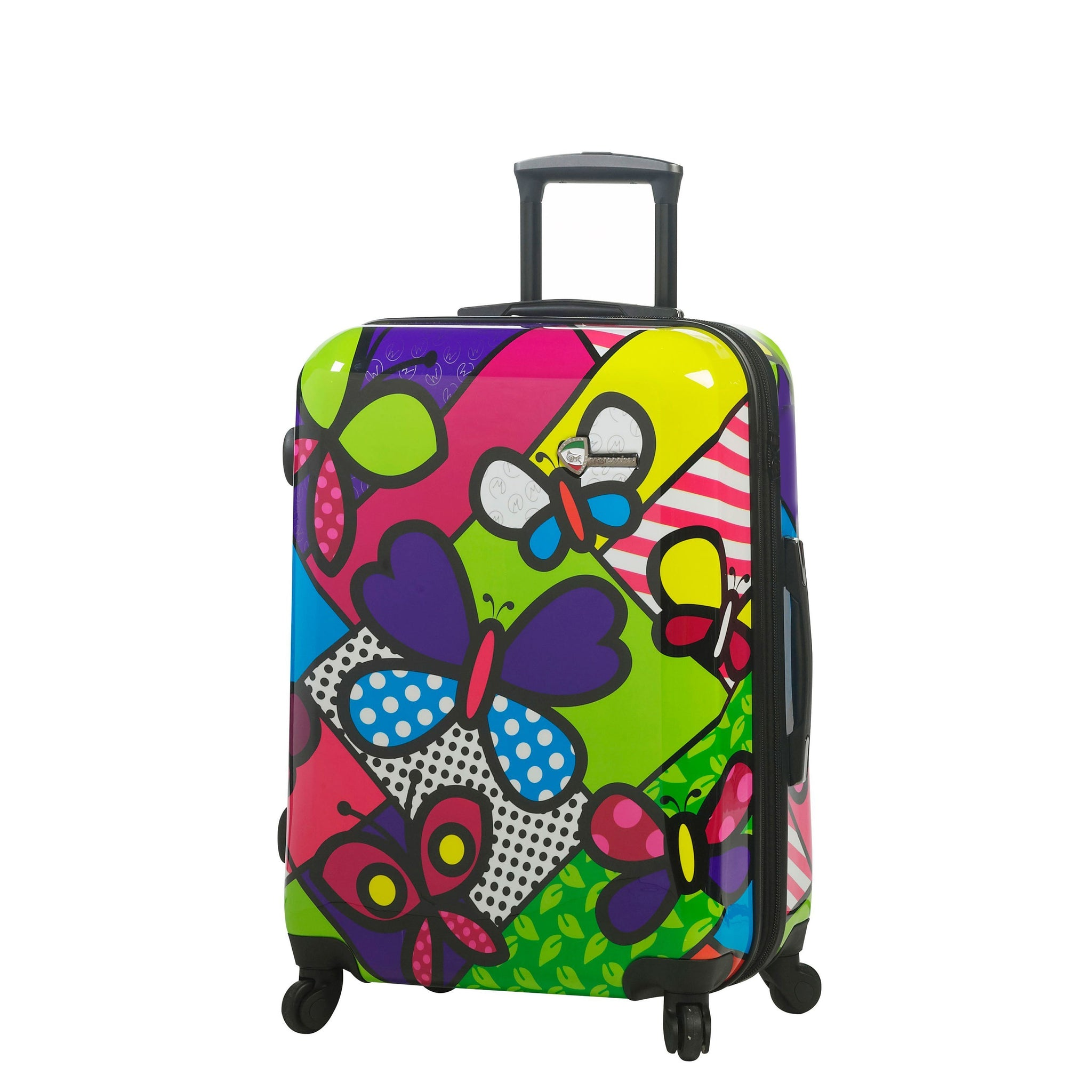 "M by Mia Toro-Butterflies Hardside 24"" Spinner Luggage"