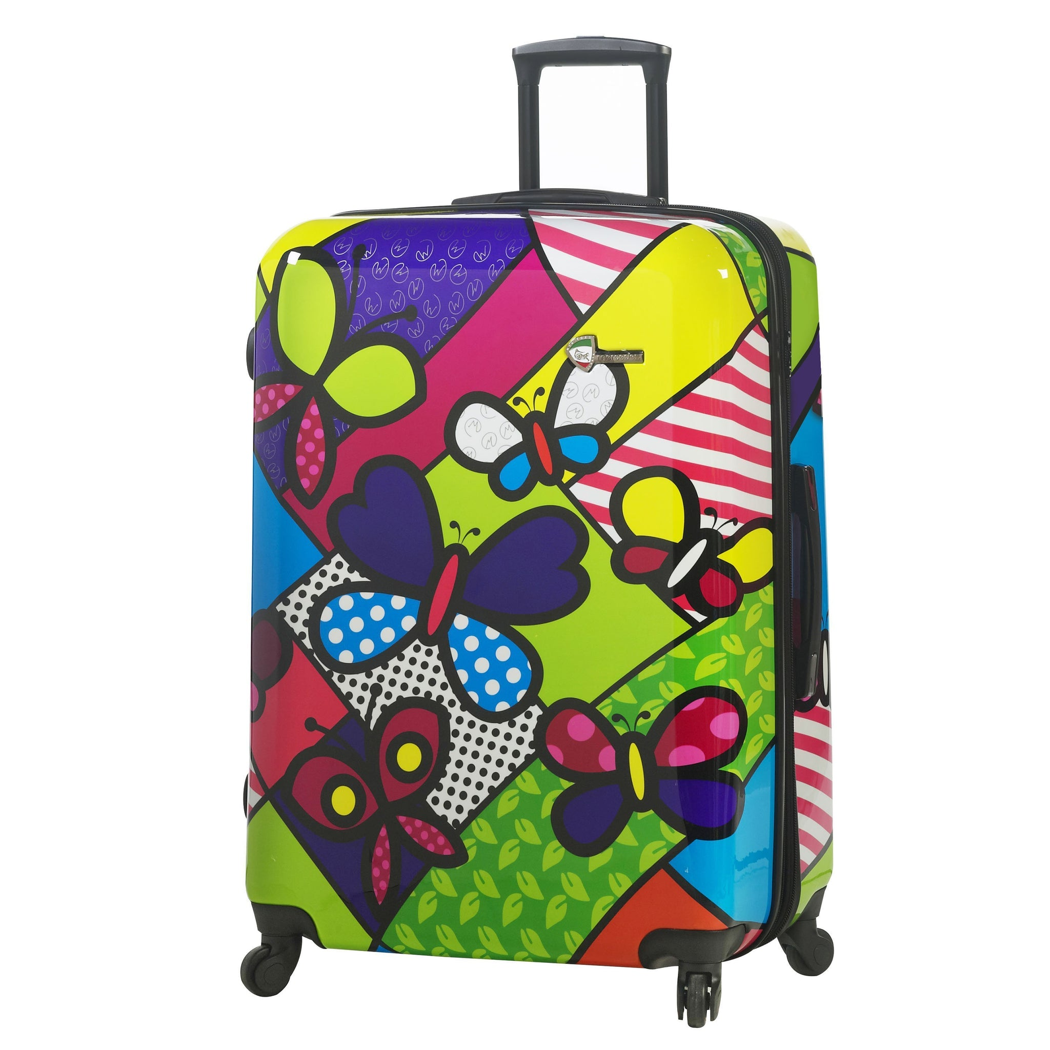 "M by Mia Toro-Butterflies Hardside 28"" Spinner Luggage"
