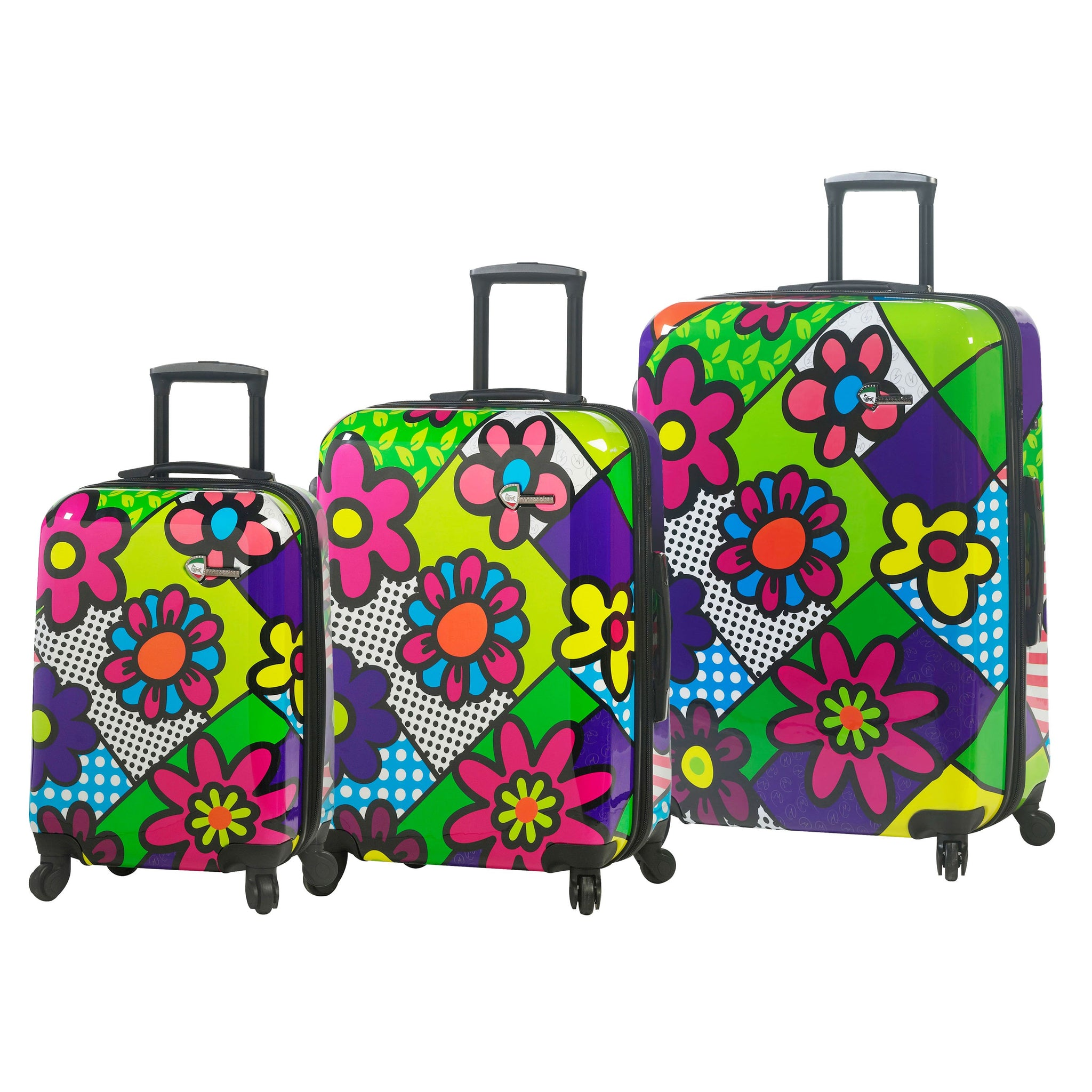 "M by Mia Toro - Flower Hardside 24"" Spinner Luggage Set (3 Pieces)"