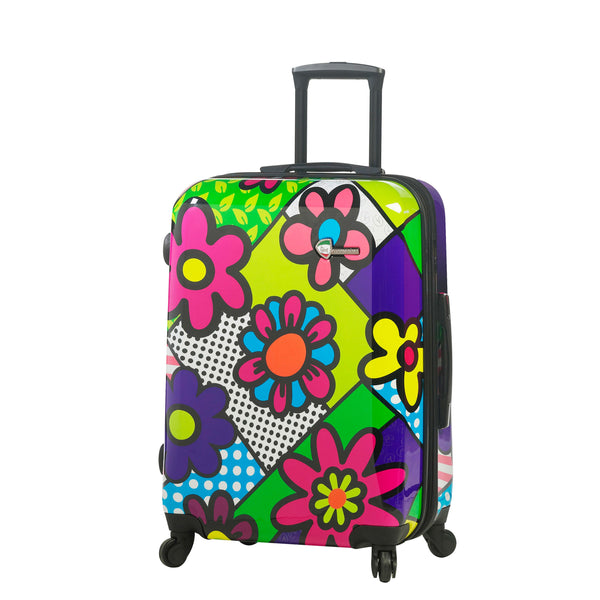 "M by Mia Toro - Flower Hardside 24"" Spinner Luggage"