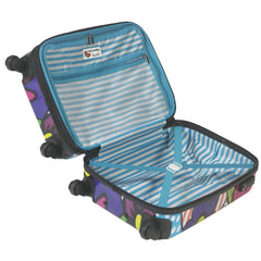 M by Mia Toro - Flower Hardside Carry On Spinner Luggage