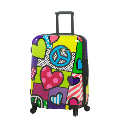 "M by Mia Toro-Peace and Love Hardside 24"" Spinner Luggage"