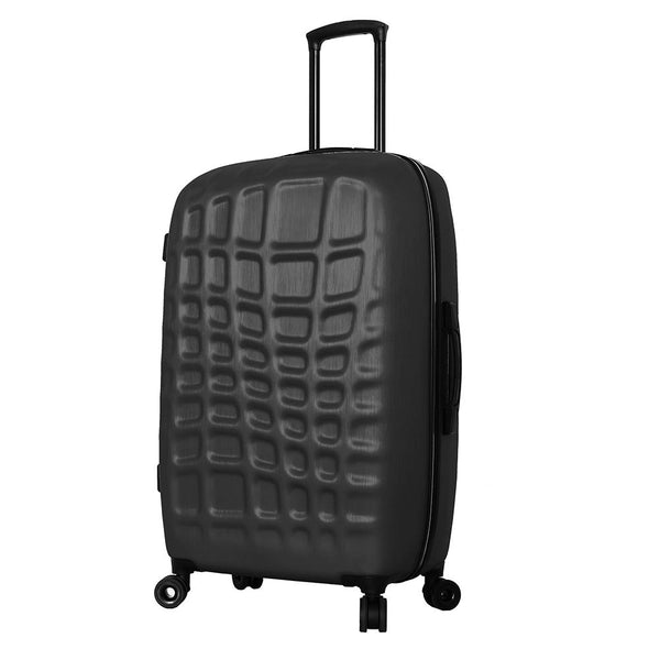 Mia Toro ITALY Abstract Croco Hardside 28'' Spinner Luggage