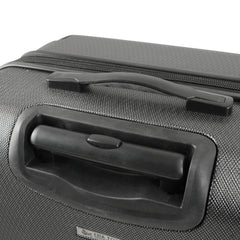 Mia Toro ITALY Aquila Hardside Spinner Luggage 3 Piece set in black color - top