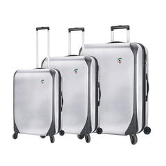Mia Toro ITALY Aquila Hardside Spinner Luggage 3 Piece set in white color