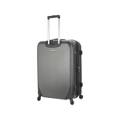 Mia Toro ITALY Aquila Hardside Spinner Luggage 3 Piece set in black color - back