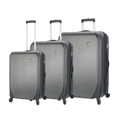 Mia Toro ITALY Aquila Hardside Spinner Luggage 3 Piece set in black color