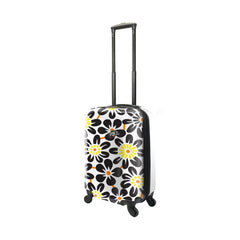 Mia Toro ITALY EKKO Flower Hardside Carry On Spinner Luggage