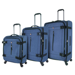 Mia Toro ITALY Ischia Softside Spinner Luggage 3PC Set