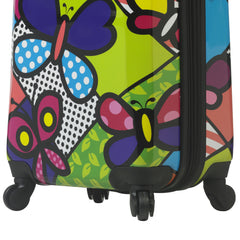 Mia Toro ITALY M by Mia Toro-Butterflies Hybrid Hardside Spinner Luggage 3PC Set