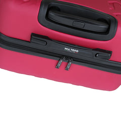 Mia Toro ITALY Molded Art Braid Hardside Spinner Carry-On