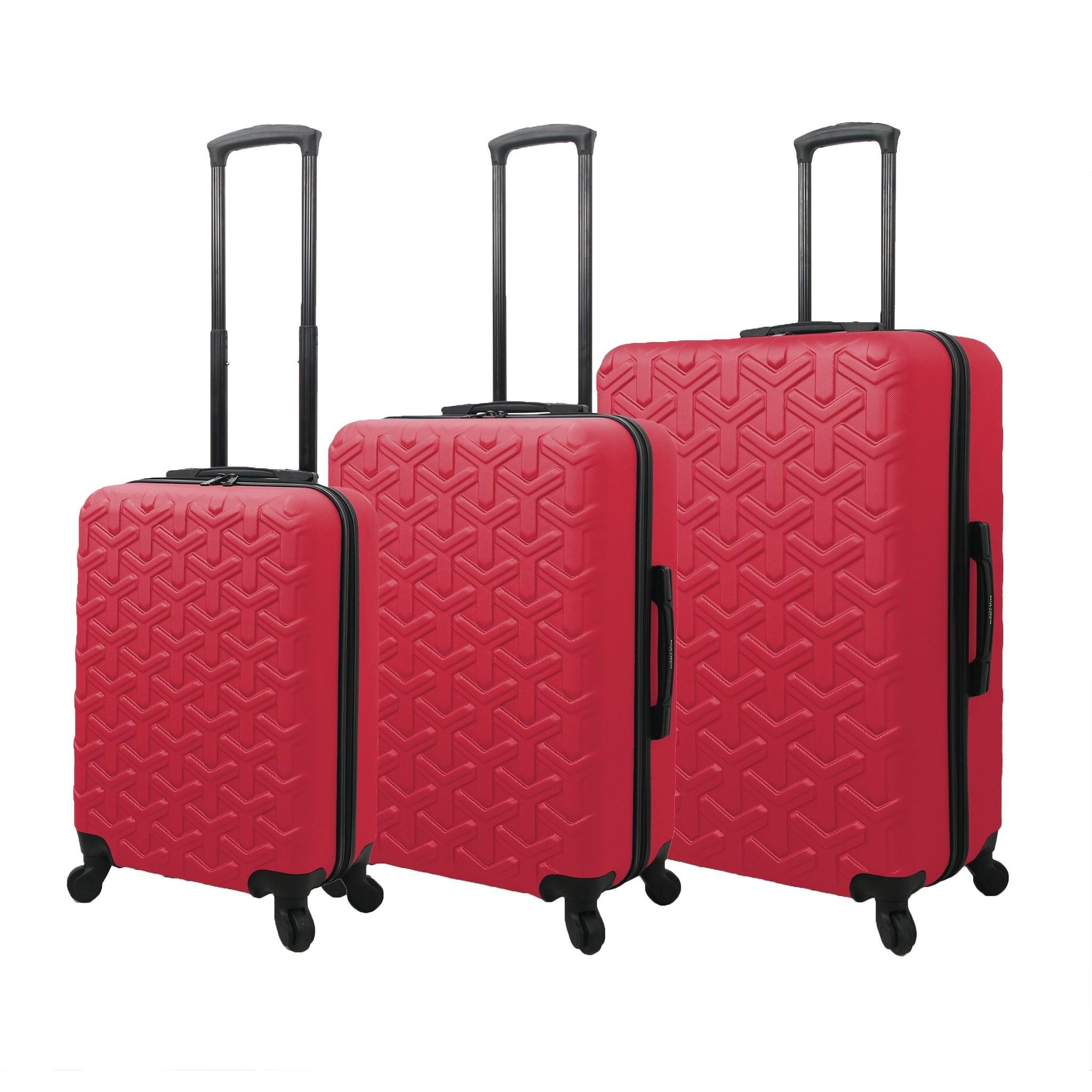 Mia Toro ITALY Molded Art Braid Hardside Spinner Luggage 3PC Set