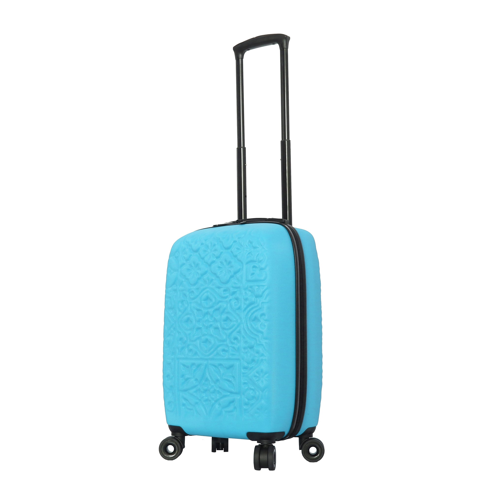 Mia Toro ITALY Molded Art Mozaic Hardside Spinner Carry-On