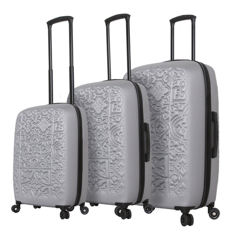Mia Toro ITALY Molded Art Mozaic Hardside Spinner Luggage 3PC Set