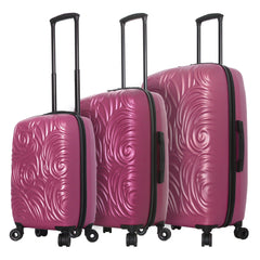 Mia Toro ITALY Swirl Hardside Spinner Luggage 3PC Set