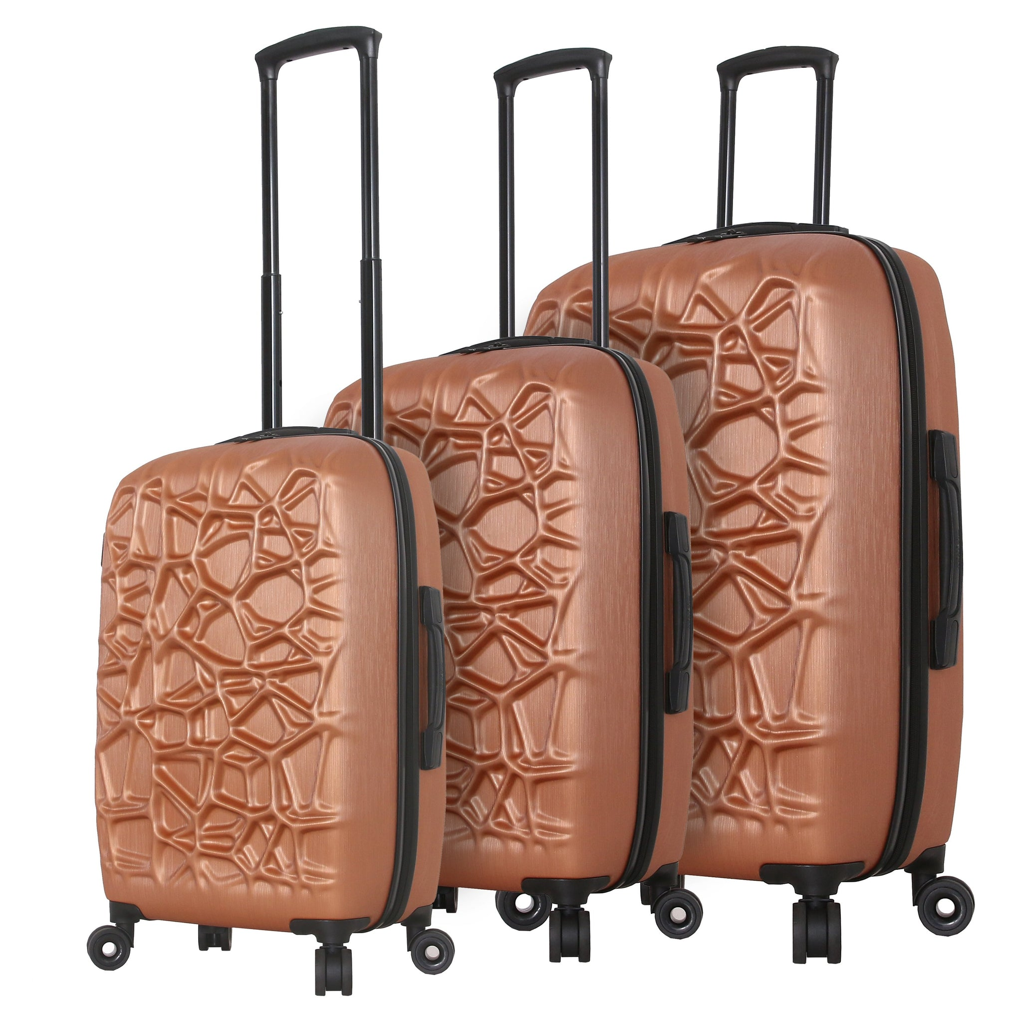 "Mia Toro ITALY ""Web"" Hardside Spinner Luggage 3PC Set"