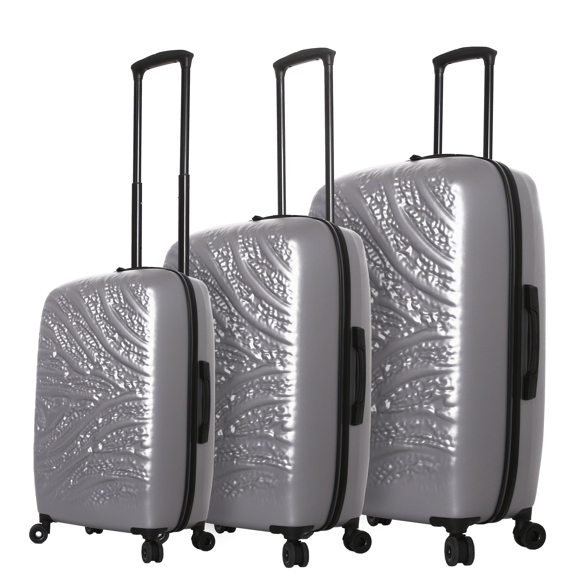 Mia Toro ITALY Zebbra Jungle Hardside Spinner Luggage 3 Piece Set