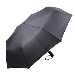 Mia Toro Solid Black Auto Open/Auto Close Umbrella
