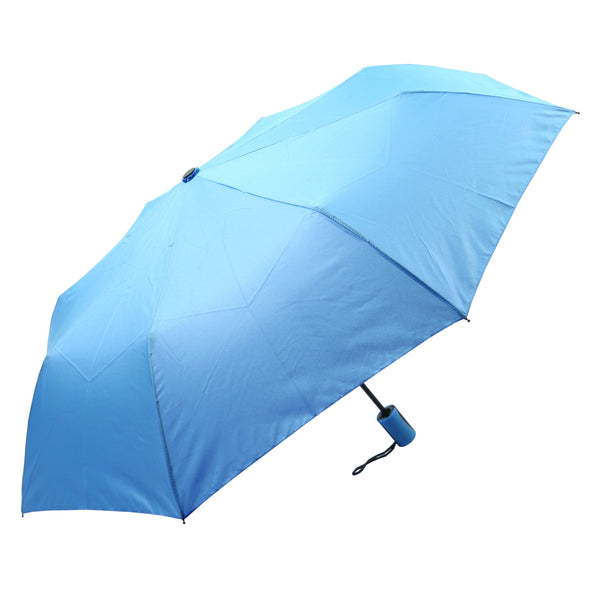 Mia Toro Solid Blue Auto Open Umbrella