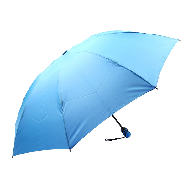 Mia Toro Solid Blue Auto Open/Auto Close reversible Umbrella