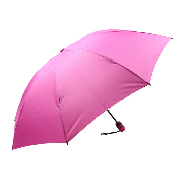 Mia Toro Solid Fuchsia Auto Open/Auto Close reversible Umbrella