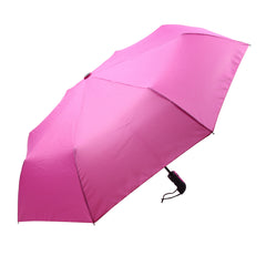 Mia Toro Solid Fuchsia Auto Open/Auto Close Umbrella
