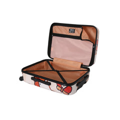 Ricci Wood Mozaic Butterflies Luggage Set (3 Pieces)