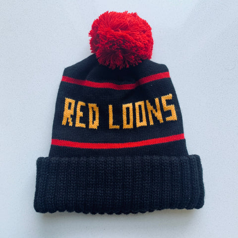 Red Loons Pom Hat