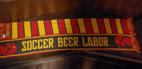 Red Loons Soccer Beer Labor Scarf