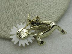 Vintage Yellow & White Daisy Brooch, Sarah Coventry 1970's