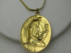 "Vintage Egyptian With Ankh Pendant on  Monet, 24"" Herringbone Chain"