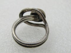 Vintage Sterling Silver Mexico Modernist Ring, Unisex, Sz. 8