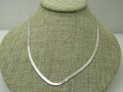 "Vintage Herringbone 18"" Necklace, 2.5mm wide, Silver Tone"