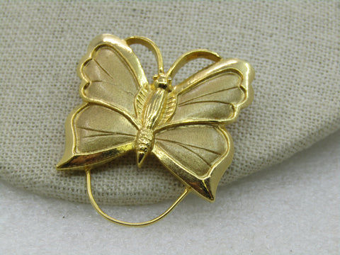 Vintage Butterfly Brooch with Drop, Signed Torino, 1970's-1980's