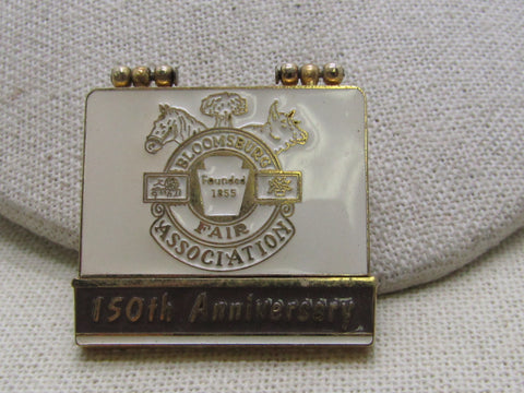 Enameled Bloomsburg Fair VIP Anniversary Brooch,  2004, 150th, Flip Top, Pennsylvania