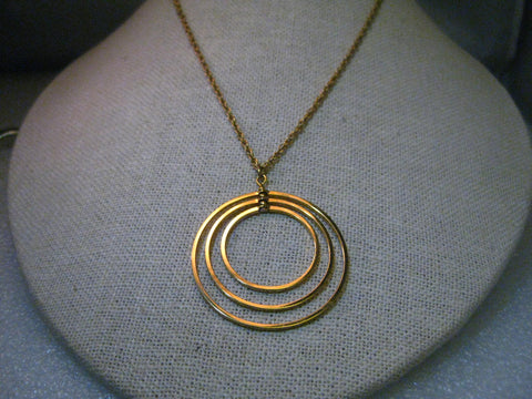 Vintage 12kt G.F.  Van Dell Graduated Circle Pendant Necklace, 24""