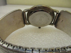 Southwestern Sterling Silver Men's Turquoise & Coral Watch Tips with Legacy Watch, 1990's -Heavy