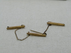 Victorian Scatter Bar Brooch Set of Three Pins, Gold Filled, C-Clasps