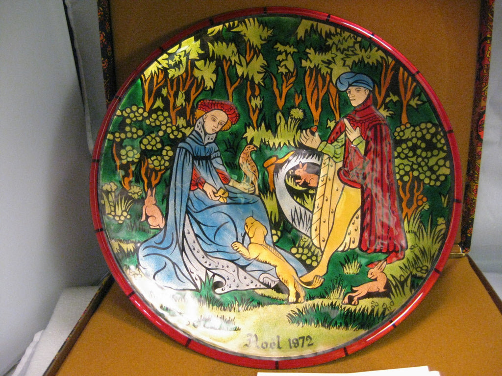 Copy of Jean-Paul Loup, Enamel Plate, Christmas 1972, No. 263 of 500, Limoges, France