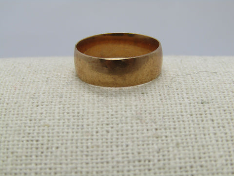 Vintage 10kt-12kt Gold 6mm Wedding Band, Size 7.75, Signed W L & Co., early 1900's