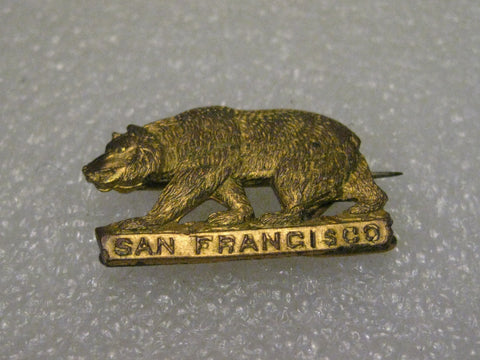 Vintage California San Francisco G.A.R. Encampment Bear Brooch Part, Feb. 23 1886