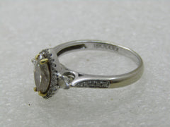 18kt Hana .77 CTW Mariquise Diamond Halo Engagement Ring, Size 6.75, 3.41 gr.
