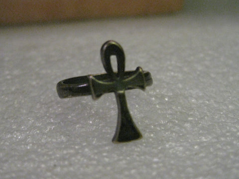 Vintage Sterling Silver Ring, Ankh, size 5, weight 3.60 grams