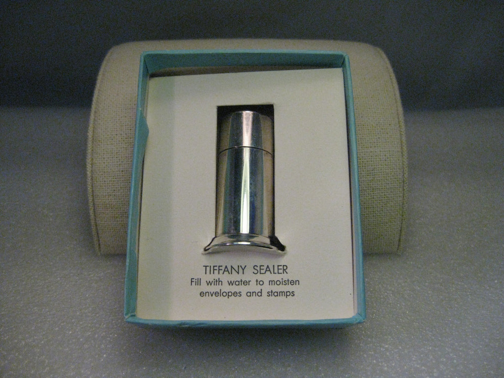 Vintage Tiffany & Co. Sterling Silver Envelope Sealer in Original Box - 1950s-1960s