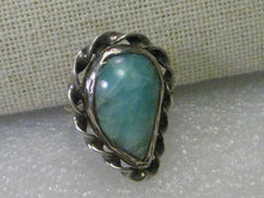 Sterling Silver Amazonite Southwestern Ring, sz. 7.25 - Southwestern Appeal, Quality
