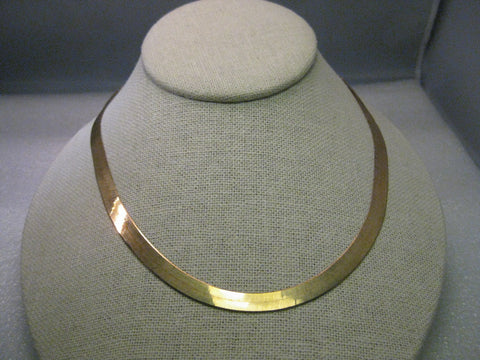 "10kt Yellow Gold Herringbone 6mm wide Necklace, 24"", 15.13 grams, Milor, Italy"