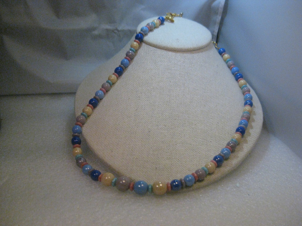 "Vintage Joan Rivers  30"" Glass Beaded Necklace, plus 4"" extender chain"