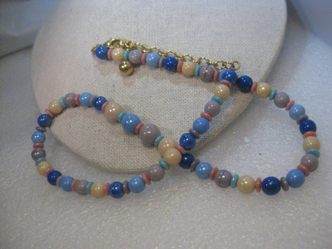 "Vintage Joan Rivers  23"" Glass Beaded Necklace, Multi-Colored"