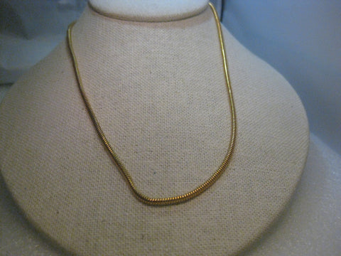 "Vintage Joan Rivers  18"" Round Serpentine Necklace, Gold Tone, Lobster Clasp"