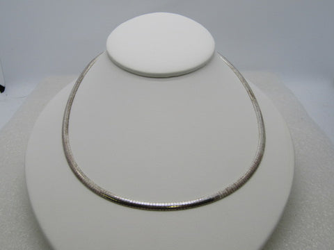 "Sterling Silver Milor Omega Necklace/Choker, 4mm, 18"", 19.47 grams, 1980's-1990's"